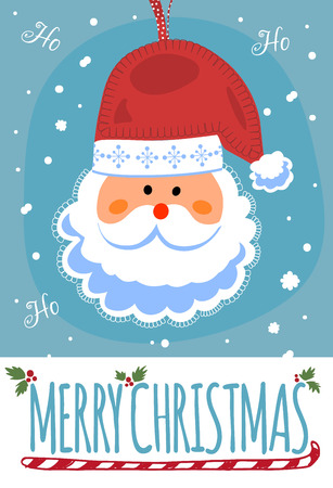 santa clause: Merry Christmas post card with Santa Clause. Vector illustration.