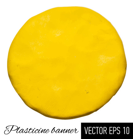 plasticine: Vector illustration of plasticine banner.