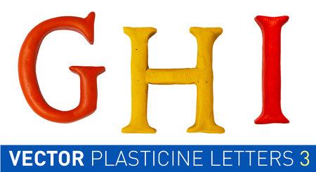 english letters: Set of plasticine letters of english alphabet. Vector illustration. Illustration