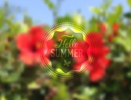 webdesign template: Nature flower blurred background with design text. Web-design template. Site. Banner. Vector illustration.