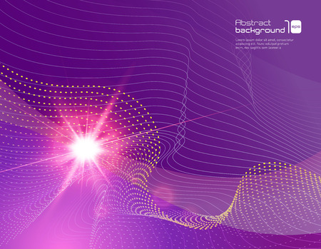 sun flare: Realistic sun flare on abstract background. Vector illustration.