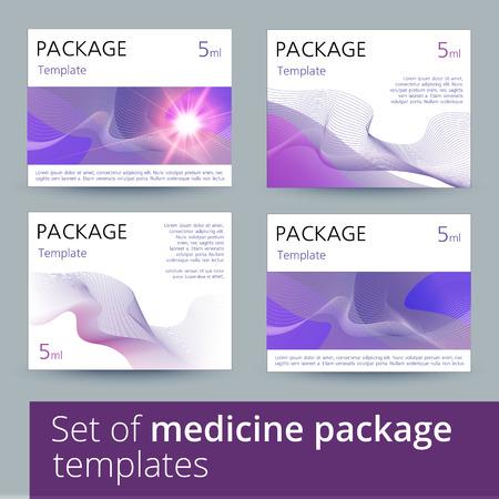 seltzer: Set of medicine package templates. Vector illustration.