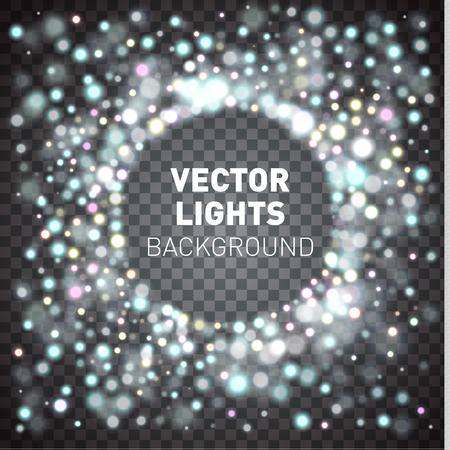 glowing lights: Glowing lights isolated on transparent background. Vector illustration