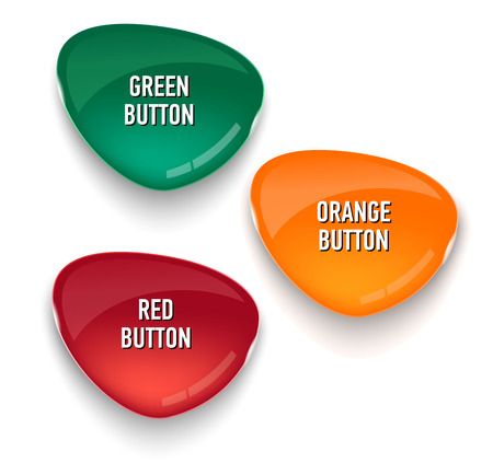 web site: Set of colored glass buttons for web interface. Web elements. Web site. Vector illustration.