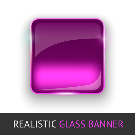 Glass banner for your design. Vector illustration. Illustration