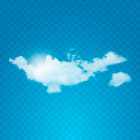 high beams: Realistic cloud on transparent background. Vector illustration