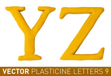 Set of plasticine letters of english alphabet.
