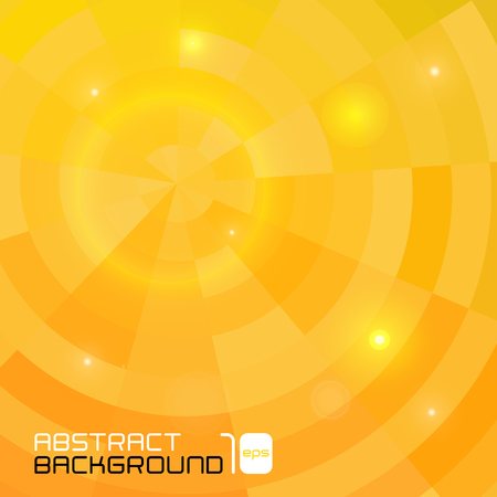 cubismo: Polygonal abstract yellow background for business presentation. Vector illustration.