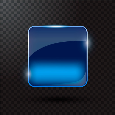 glass button: Colored glass button for web interface. Web element. Web site. Vector illustration.