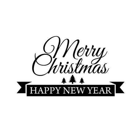 typographical: Typographical poster for Merry Christmas. Vector illustration.