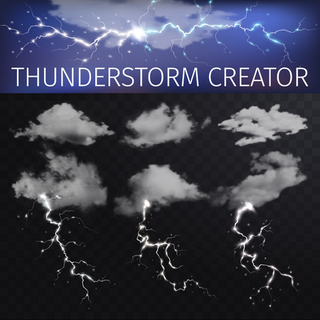 thunderstorms: Sky creator with realistic clouds and thunderstorms.