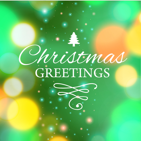 ecard: Vector illustration of Merry Christmas e-card template.
