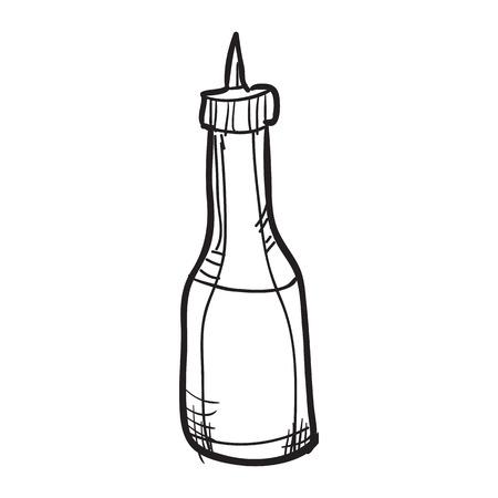 Vector illustration of doodle food element. Sketch.