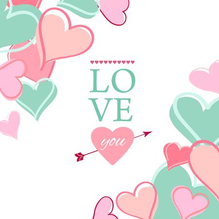 valentine s: Post card for Valentine s day. Vector illustration.