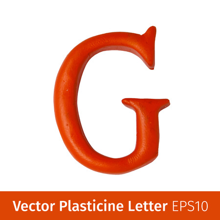 Set of plasticine letters of english alphabet. Vector illustration