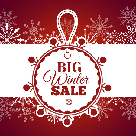 Vector illustration of Winter sale poster.