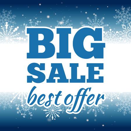 ultimate: Vector illustration of Winter sale poster. Banner.