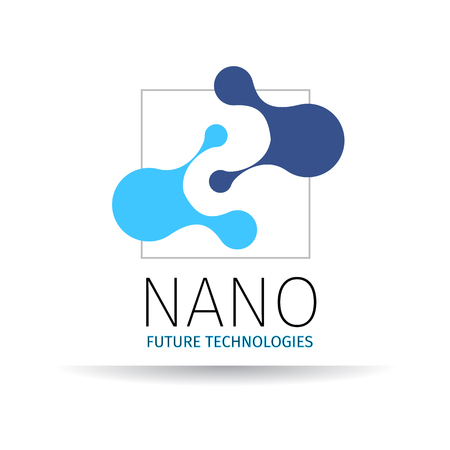 abstract template: Vector illustration of Nano logo - nanotechnology. Template design of logo.