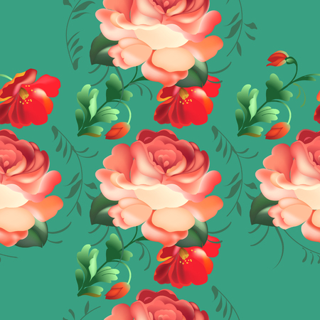 Seamless pattern in russian traditional style. vector illustration.
