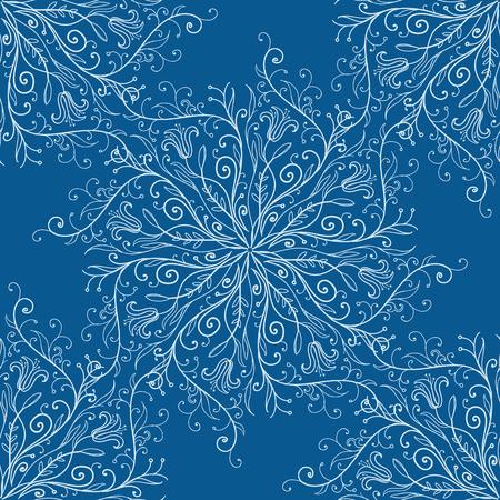 calligraph: Vector illustration of calligraphy penmanship decorative seamless background