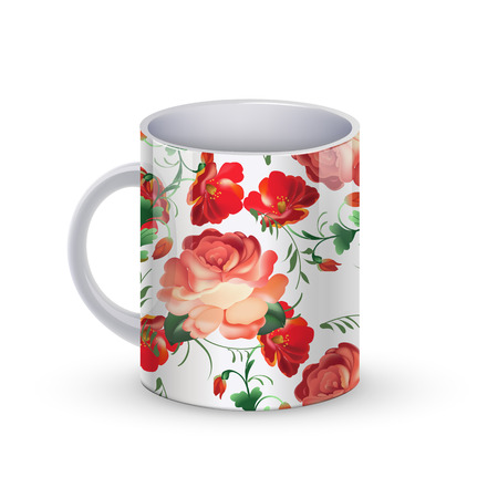 vector illustration of coffee cup template illustration with