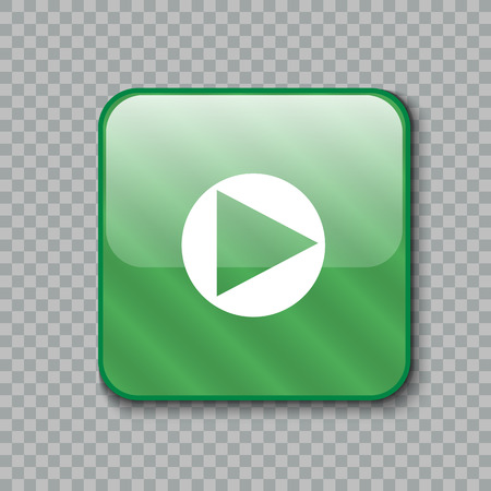 newest: Vector illustration of Right arrow icon. Glossy green button