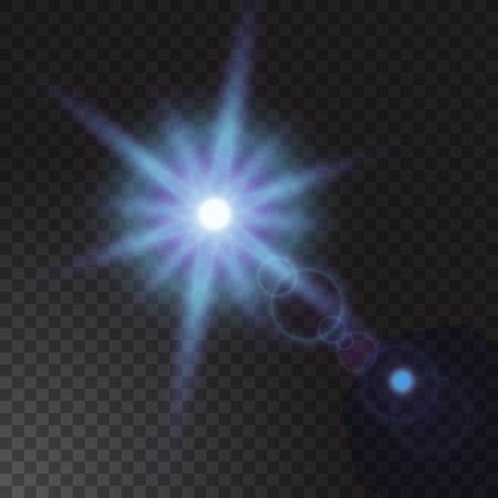beam of light: Vector illustration of Realistic beam light on transparent background.