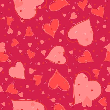 Vektor-Illustration von Nahtlose valentine Muster. Herzen