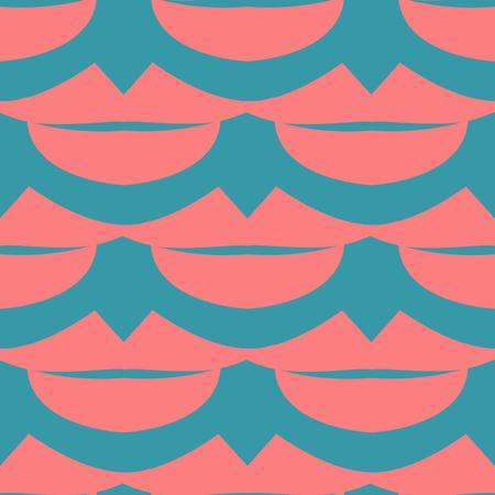 beige lips: Lips Seamless pattern. Beige background. Vector illustration