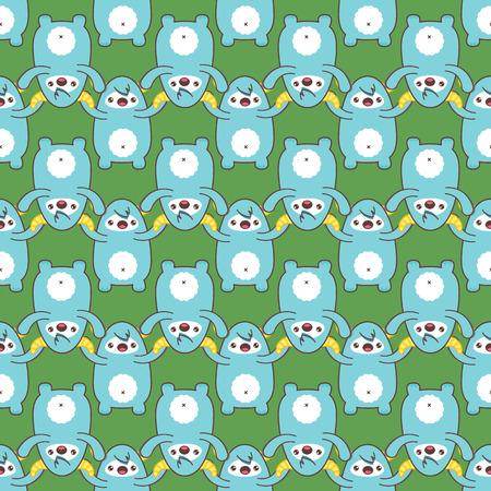 yeti: Cartoon yeti seamless pattern. Vector illustration