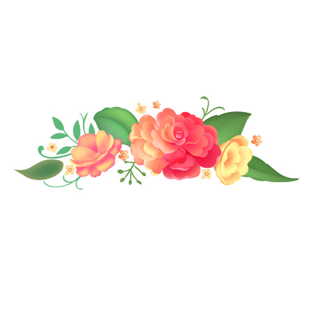 flower arrangement: Flower arrangement. Vector illustration