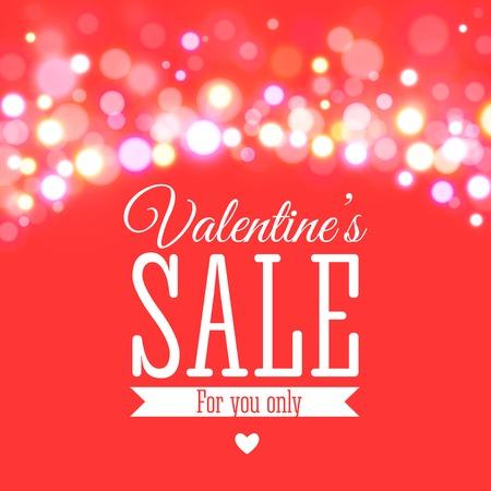 Valentines day sale offer. Vector illustration Illustration