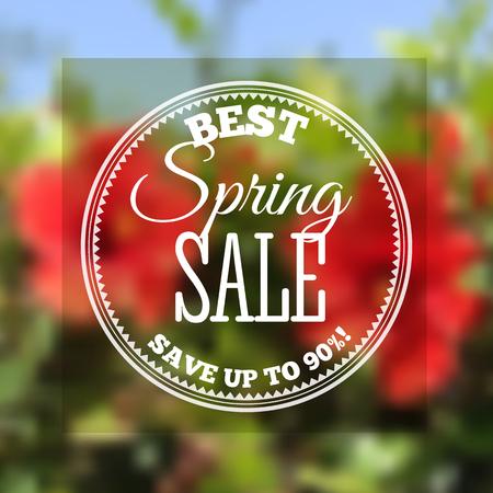 Spring sale banner. Vector illustration Illustration