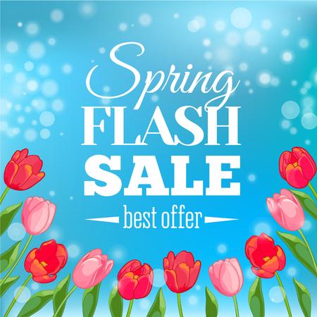 best buy: Spring Sale banner. Vector illustration