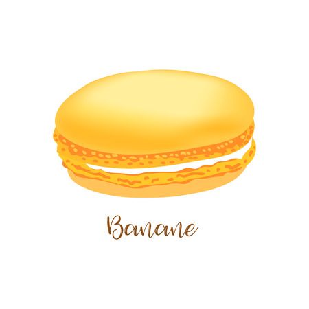 French macaroon. Vector illustration.