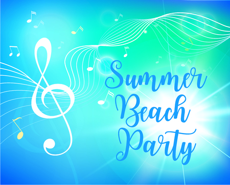 Summer beach party flyer. Vector illustration. Ilustração