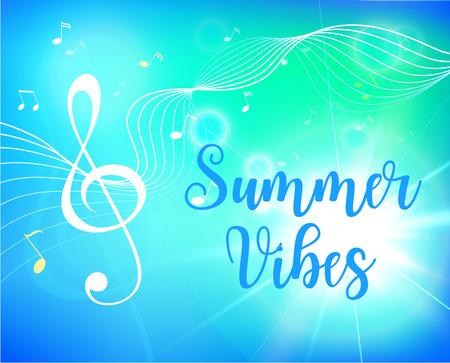 Summer beach party flyer. Vector illustration