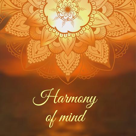 Yoga banner with mandala. Vector illustration Illustration