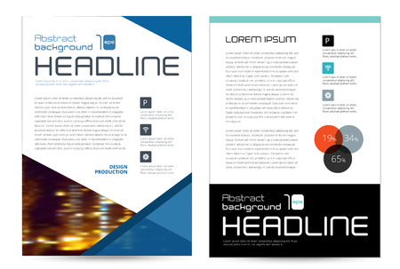 ollection: ollection set cover business brochure vector design, Leaflet advertising abstract background