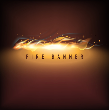 special effects: Vector fire illustration. Business promotion. Vector illustration