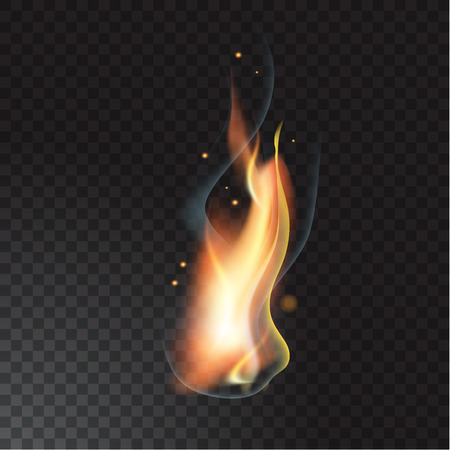 Realistic fire flame illustration.