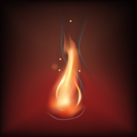 Realistic fire flame Stock Vector - 84140758