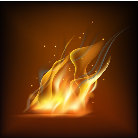 Realistic fire flame vector illustration. Stock Vector - 84217226