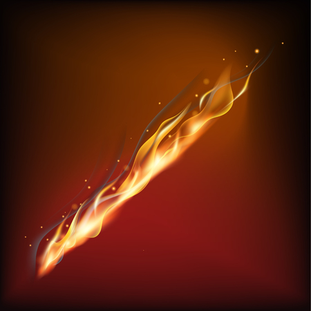 Realistic fire flame Stock Vector - 84273795