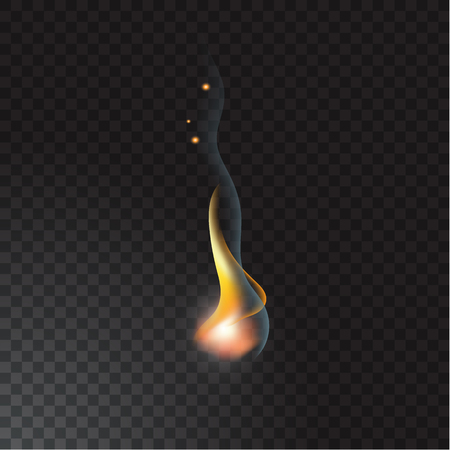 Realistic fire flame vector illustration.
