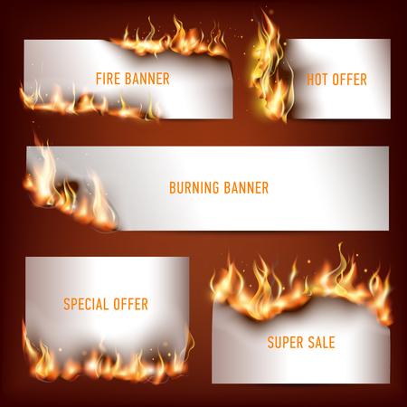 Hot-fire strategische advertentiebanners die voor klanten worden geplaatst die aan seizoengebonden kortingsverkoop aantrekken