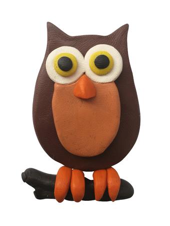 Plasticine brown owl