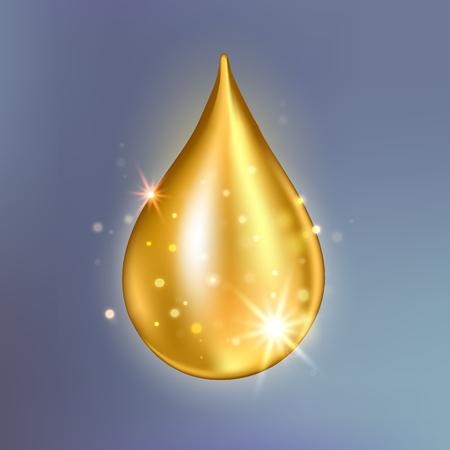 Collagen oil drop essence. Illustration