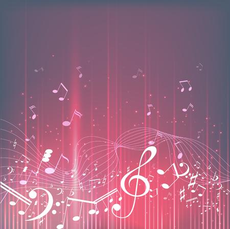 カラフルな音楽の背景。楽譜。音楽キー。ベクトルイラスト  イラスト・ベクター素材