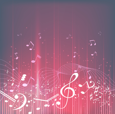 Colorful music background. Music notes. Music key. Vector illustration Stok Fotoğraf - 92520479